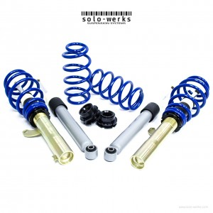 Solo Werks S1 Coilover System - VW (A5 MKV A6 MKVI) 2005-2015 Golf Jetta Beetle Eos with Rear Multi-Link Suspension