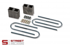 "Street Edge Lowering Block Kit for 4"" Universal Extruded Aluminum Lowering Block Complete Kit w/ 2 Degree Angle"